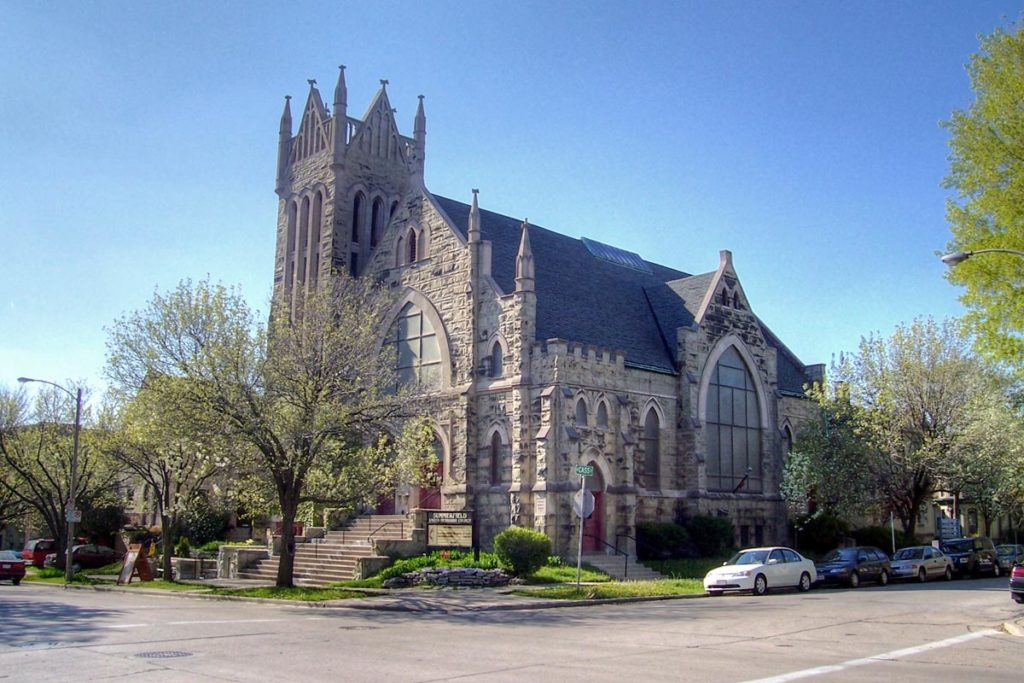 The street view of the Summerfield United Methodist Church.